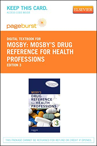 Mosby's Drug Reference for Health Professions - Elsevier eBook on VitalSource (Retail Access Card), 3e (9780323095747) by Mosby