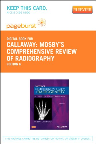9780323096362: Mosby's Comprehensive Review of Radiography - Elsevier eBook on VitalSource (Retail Access Card): The Complete Study Guide and Career Planner