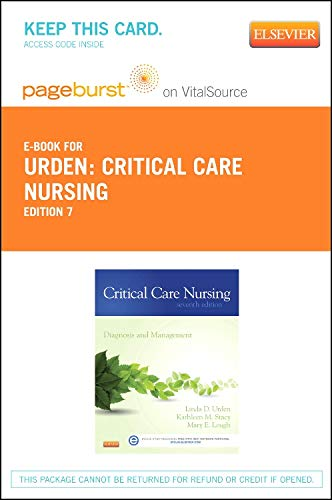 9780323100366: Critical Care Nursing - Elsevier eBook on VitalSource (Retail Access Card): Diagnosis and Management, 7e