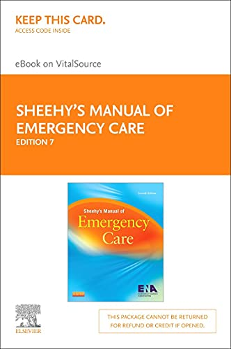 9780323100656: Sheehy's Manual of Emergency Care - Elsevier eBook on VitalSource (Retail Access Card)