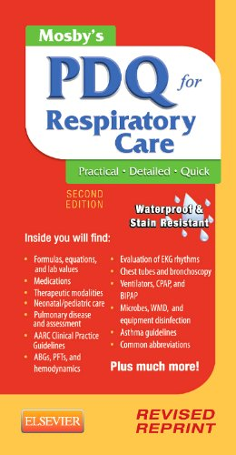 9780323100724: Mosby's PDQ for Respiratory Care - Revised Reprint, 2e