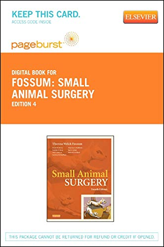 9780323100731: Small Animal Surgery Textbook - Elsevier eBook on VitalSource (Retail Access Card), 4e