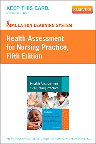 9780323101974: Simulation Learning System for Health Assessment for Nursing Practice (Retail Access Card), 5e