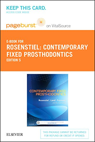 9780323112871: Contemporary Fixed Prosthodontics - Elsevier eBook on VitalSource (Retail Access Card)