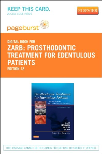 9780323113007: Prosthodontic Treatment for Edentulous Patients - Elsevier eBook on VitalSource (Retail Access Card): Complete Dentures and Implant-Supported Prostheses (Pageburst Digital Book)