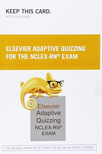 9780323113397: Elsevier Adaptive Quizzing for the NCLEX-RN Exam (36-Month) (Retail Access Card), 1e