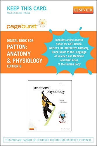 9780323169219: Anatomy & Physiology and Brief Atlas of the Human Body & Quick Guide to the Language of Science - Elsevier eBook on VST (Retail Access Card), Anatomy ... (Access Code), 8e (Pageburst (Access Codes))