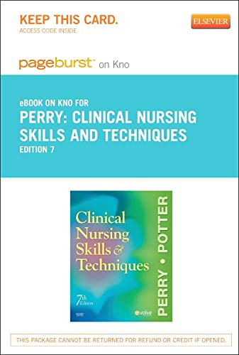 9780323169622: Clinical Nursing Skills and Techniques - Elsevier eBook on Intel Education Study (Retail Access Card), 7e