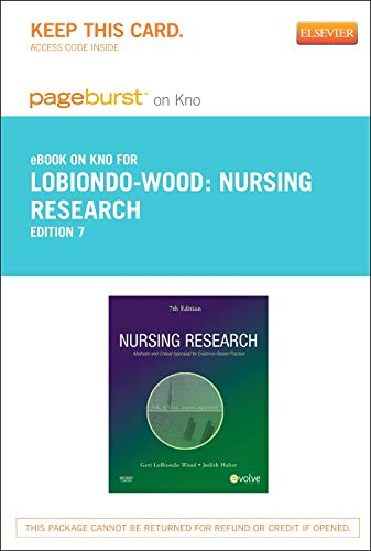 9780323169790: Nursing Research - Elsevier eBook on Intel Education Study (Retail Access Card): Methods and Critical Appraisal for Evidence-Based Practice, 7e