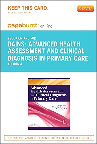 9780323169844: Advanced Health Assessment & Clinical Diagnosis in Primary Care - Elsevier eBook on Intel Education Study (Retail Access Card), 4e