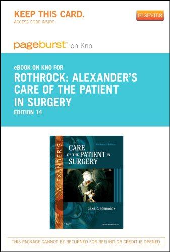 Alexanders Care Of The Patient In Surgery Ebook