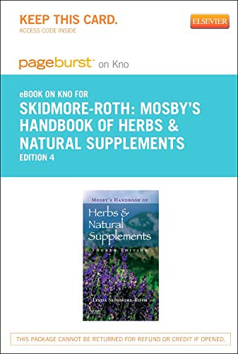 9780323170161: Mosby's Handbook of Herbs & Natural Supplements - Elsevier eBook on Intel Education Study (Retail Access Card), 4e