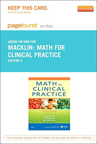 9780323170321: Math for Clinical Practice - Elsevier eBook on Intel Education Study (Retail Access Card), 2e