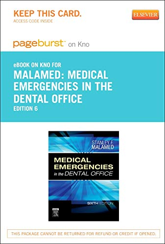 9780323170635: Medical Emergencies in the Dental Office - Elsevier eBook on Intel Education Study (Retail Access Card), 6e