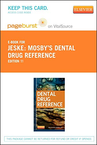 9780323172271: Mosby's Dental Drug Reference - Elsevier eBook on VitalSource (Retail Access Card)