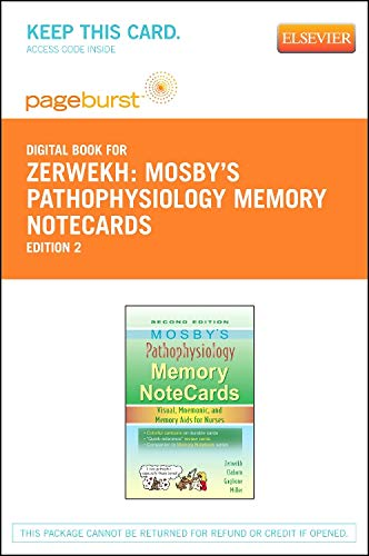 9780323172752: Mosby's Pathophysiology Memory NoteCards - Elsevier eBook on VitalSource (Retail Access Card): Visual, Mnemonic, and Memory Aids for Nurses, 2e