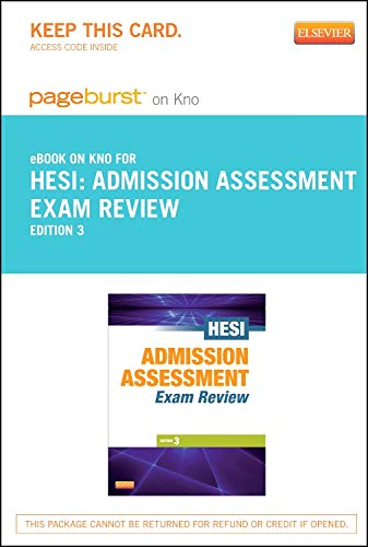 9780323183697: Admission Assessment Exam Review - Elsevier eBook on Intel Education Study (Retail Access Card)