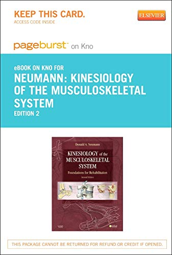 9780323183772: Kinesiology of the Musculoskeletal System - Pageburst E-book on Kno Retail Access Card: Foundations for Rehabilitation