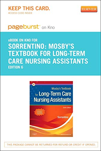 9780323184267: Mosby's Textbook for Long-Term Care Nursing Assistants - Elsevier eBook on Intel Education Study (Retail Access Card), 6e