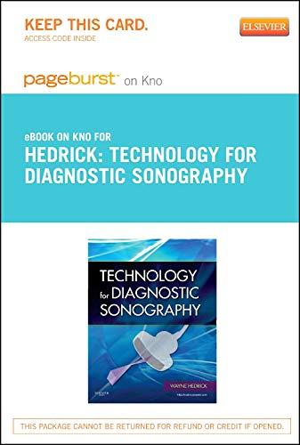 9780323184458: Technology for Diagnostic Sonography - Pageburst E-Book on Kno (Retail Access Card), 1e