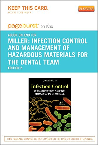 9780323184472: Infection Control and Management of Hazardous Materials for the Dental Team - Elsevier eBook on Intel Education Study (Retail Access Card), 5e