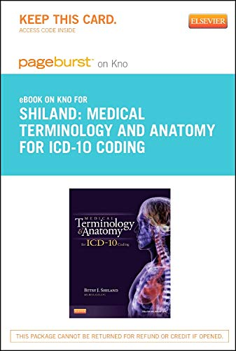 9780323184694: Medical Terminology and Anatomy for ICD-10 Coding - Elsevier eBook on Intel Education Study (Retail Access Card), 1e (Pageburst (Access Codes))