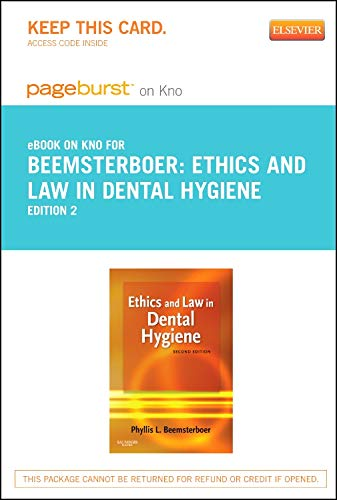 9780323184885: Ethics and Law in Dental Hygiene - Elsevier eBook on Intel Education Study (Retail Access Card), 2e (Pageburst (Access Codes))