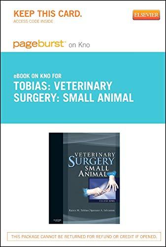 Veterinary Surgery: Small Animal - Elsevier eBook: Karen M. Tobias