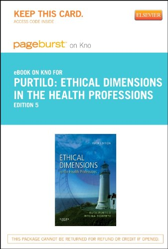9780323185028: Ethical Dimensions in the Health Professions - Elsevier eBook on Intel Education Study (Retail Access Card), 5e