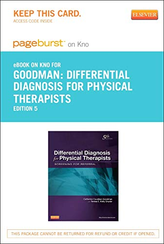 9780323185257: Differential Diagnosis for Physical Therapists - Elsevier eBook on Intel Education Study (Retail Access Card): Screening for Referral, 5e