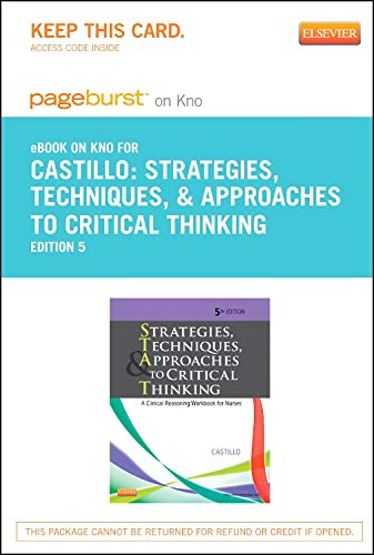 9780323185592: Strategies, Techniques, and Approaches to Critical Thinking - Elsevier eBook on Intel Education Study (Retail Access Card): A Clinical Reasoning Workbook for Nurses, 5e