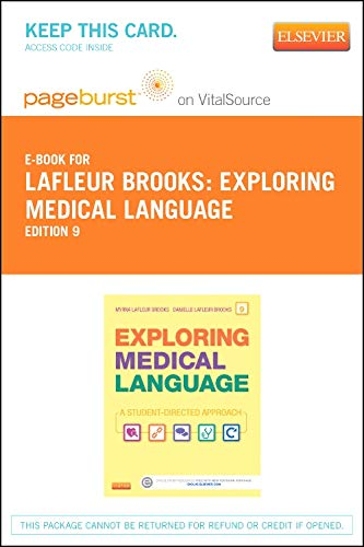 9780323221238: Exploring Medical Language - Elsevier eBook on VitalSource (Retail Access Card), 9e