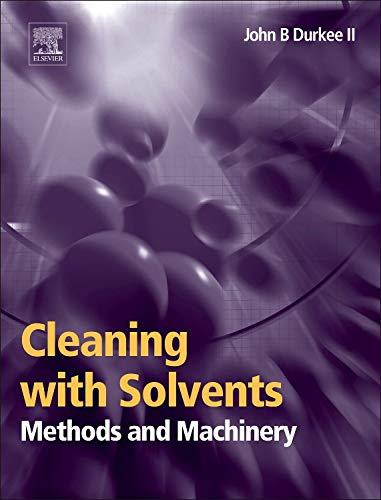 9780323225205: Cleaning with Solvents: Methods and Macinery