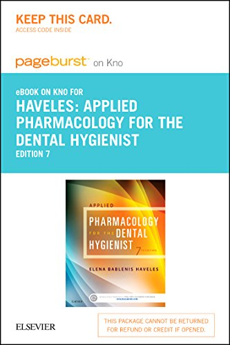 9780323226264: Applied Pharmacology for the Dental Hygienist - Elsevier eBook on Intel Education Study (Retail Access Card), 7e