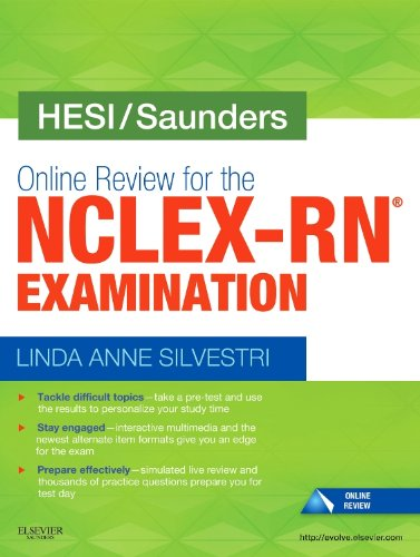 9780323226462: HESI/Saunders Online Review for the NCLEX-RN Examination (1 Year), 1e
