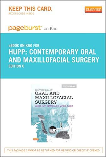 9780323226882: Contemporary Oral and Maxillofacial Surgery - Elsevier eBook on Intel Education Study (Retail Access Card), 6e