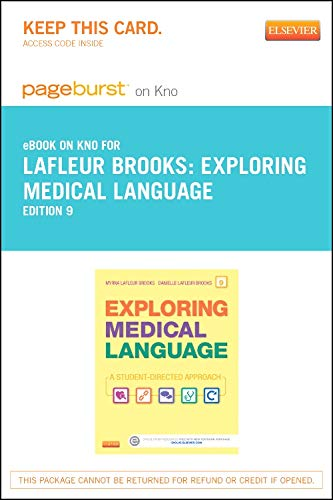 9780323239448: Exploring Medical Language - Elsevier eBook on Intel Education Study (Retail Access Card): A Student-Directed Approach, 9e