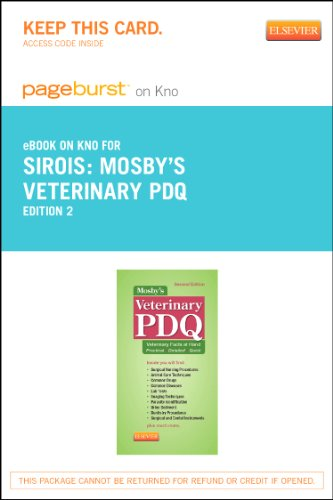 9780323241571: Mosby's Veterinary PDQ - Elsevier eBook on Intel Education Study (Retail Access Card), 2e