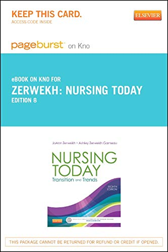 9780323243735: Nursing Today - Elsevier eBook on Intel Education Study (Retail Access Card): Transition and Trends, 8e