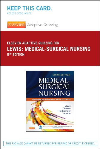 9780323244978: Elsevier Adaptive Quizzing for Lewis Medical-Surgical Nursing (36-Month) (Retail Access Card), 9e