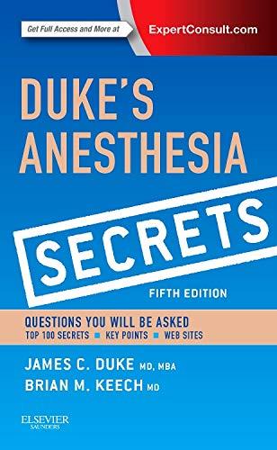 9780323249775: Duke's Anesthesia Secrets