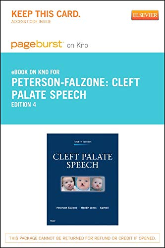 9780323261630: Cleft Palate Speech - Elsevier eBook on Intel Education Study (Retail Access Card), 4e