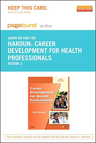 9780323261661: Career Development for Health Professionals - Elsevier eBook on Intel Education Study (Retail Access Card): Success in School & on the Job, 3e