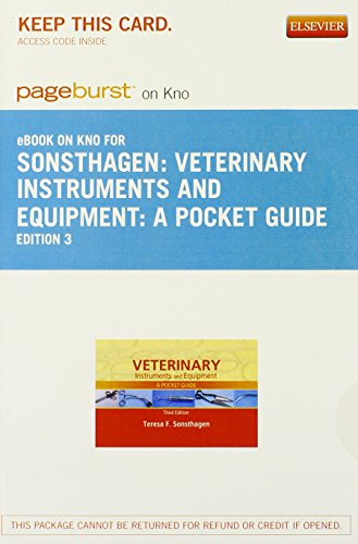 9780323263153: Veterinary Instruments and Equipment - Elsevier eBook on Intel Education Study (Retail Access Card): A Pocket Guide