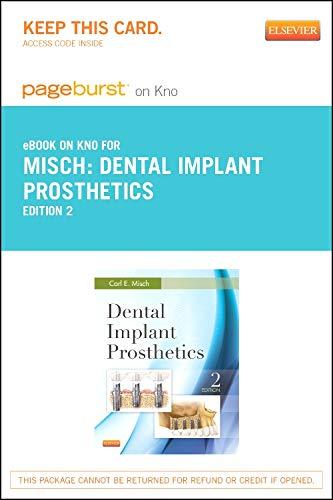 9780323263672: Dental Implant Prosthetics - Elsevier eBook on Intel Education Study (Retail Access Card), 2e
