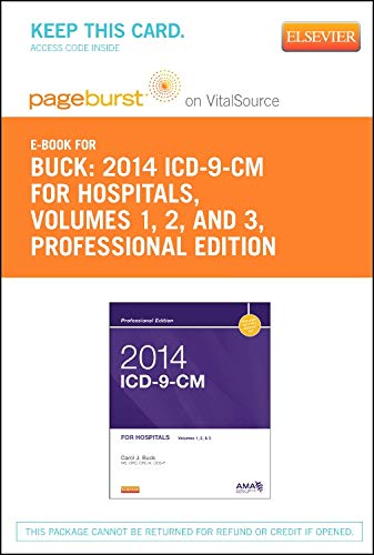 9780323264273: 2014 ICD-9-CM for Hospitals, Volumes 1, 2 and 3 Professional Edition - Pageburst E-Book on VitalSource (Retail Access Card), 1e
