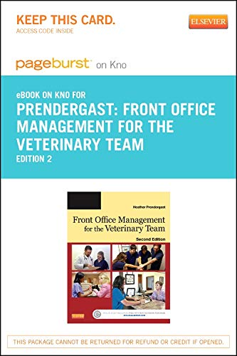 9780323265492: Front Office Management for the Veterinary Team - Elsevier eBook on Intel Education Study (Retail Access Card), 2e