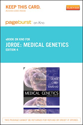 9780323278621: Medical Genetics Pageburst E-Book on Kno (Retail Access Card), 4e