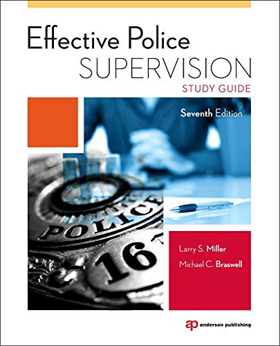 9780323280044: Effective Police Supervision Study Guide