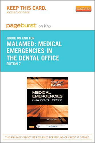 9780323280396: Medical Emergencies in the Dental Office - Elsevier eBook on Intel Education Study (Retail Access Card), 7e